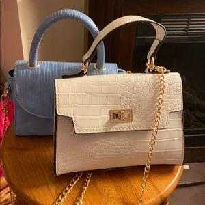 Handbags - White and blue mini purses (selling both)